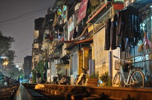 Living beside the railway. Hanoi